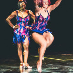 Gin Minsky and Perle Noire performing at the 2015 Burlesque Hall of Fame Weekend Saturday night Miss Exotic World show.