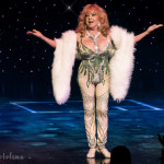 Gina Bon Bon onstage at the 2016 Burlesque Hall of Fame Friday Night Legends Reunion Showcase.