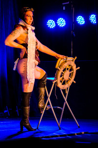 Ginge O'Lolly performing at Vermont Burlesque Festival 2016 Saturday Night Extravaganza.