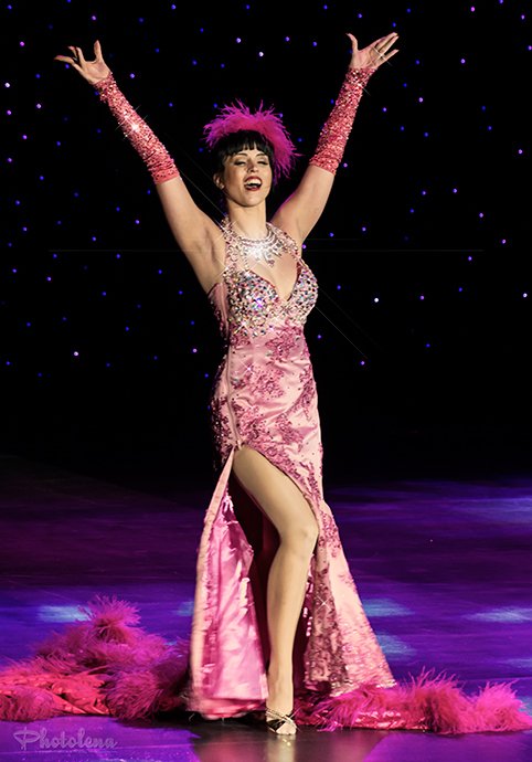Ginger Valentine Competing For Queen At The 2014 Burlesque Hall Of Fame  Weekend: Miss Exotic