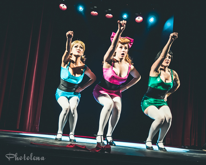 Harlettes performing at Jinkies! A Hanna Barbera Burlesque Tribute, Toronto.