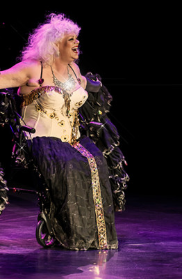 Holiday O'Hara performing at the 2014 Burlesque Hall of Fame Titans of Tease Reunion Showcase