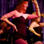 Honey Touche performing at Burlesque on Broadway at Lannie's Clocktower Cabaret in Denver, Colorado.