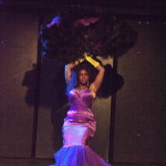 Incredible Edible Akynos performing at the Prince burlesque tribute show, Quintessential: The Purple Rain Edition.