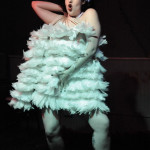 Iris Explosion performing at the Hollaback Girls Benefit Burlesque Show