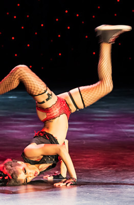 Jeez Loueez performing in the Burlesque Hall of Fame 2014 Tournament of Tease Debut Category