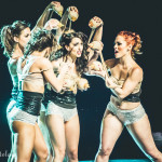 Jenny Rocha and Her Painted Ladies performing at the 2015 Burlesque Hall of Fame Weekend Saturday night Miss Exotic World show.