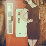 Jessie Alexander at the Tiki Barn on the 2016 Burlesque Hall of Fame pinup photo safari in Las Vegas.