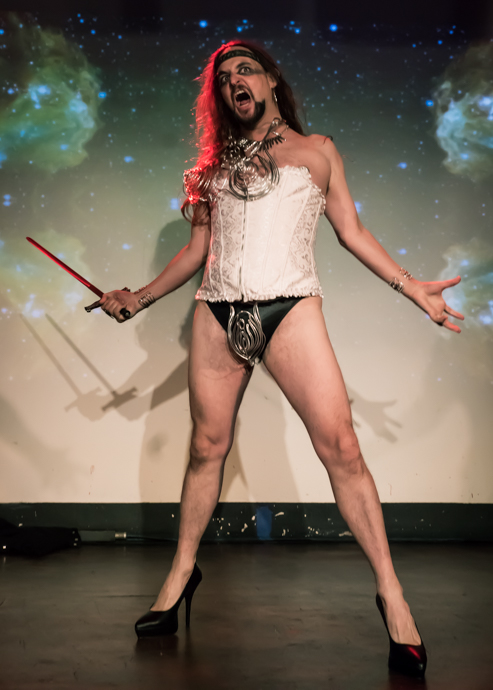 Johnny Porkpie performing at the 2015 New York Burlesque Festival Thursday night Teaser Party.