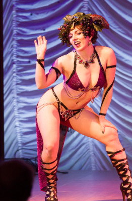 Jolie Stripes performing at the 2015 Great Burlesque Exposition 9, The Main Event.