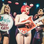 Sevvy Skellington, Betty Quirk, Leelando Calrissian performing at Jinkies! A Hanna Barbera Burlesque Tribute, Toronto.
