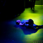 Michelle L'amour onstage at New Orleans burlesque show The Joy of Tease