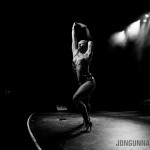 Bella Blue performing at New Orleans burlesque show The Joy of Tease