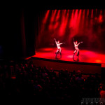 Michelle L'amour and Bella Blue onstage at New Orleans burlesque show The Joy of Tease