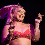 Julie Atlas Muz performing at Bedroom Burlesque: A Penthouse Forum Release Party With The New York School of Burlesque