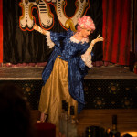 Tickety Boo performing at the Kinky and Quirky burlesque cabaret show at the Majestic Templestowe Hotel in Torquay.