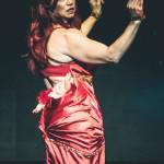 Kay Sera performing at the New York Burlesque Festival 2015 Sunday night Golden Pasties awards show at Highline Ballroom.