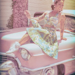 Keela Fung on the 2016 Burlesque Hall of Fame pinup photo safari in Las Vegas.