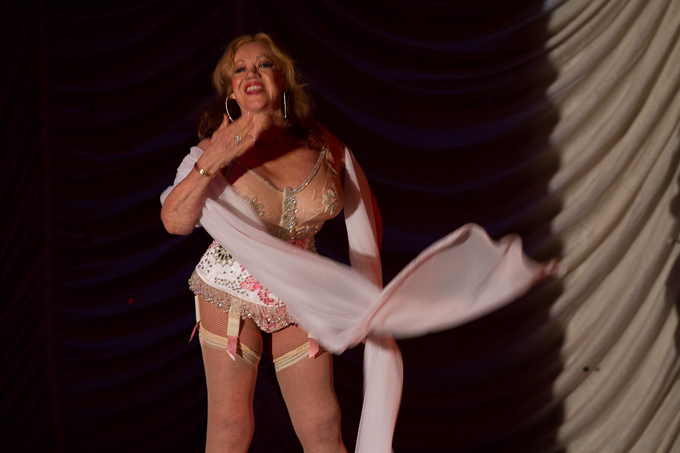 Kitten Natividad performing at the 2015 Great Burlesque Exposition day 1 show, The Rhinestone Revue