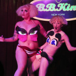 Kitten N' Lou performing at the 2016 New York Burlesque Festival Saturday night show.