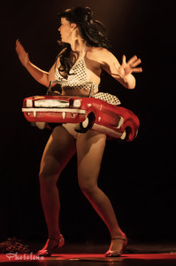 Kitty Litteur performing at the 2014 Toronto Burlesque Festival Day 3