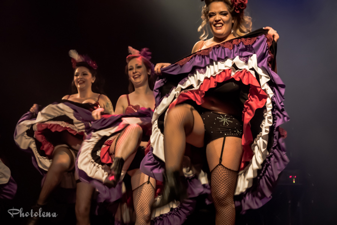 Knicker Kickers performing at the Toronto burlesque show Girlesque 2015, the Saturday early show.