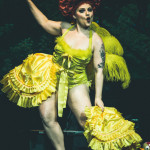Lady Francesca performing at the New York Burlesque Festival 2015 Sunday night Golden Pasties awards show at Highline Ballroom.