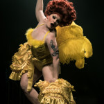 Lady Francesca performing at the Toronto Burlesque Festival 2015 Glam-a-ganza show.
