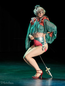 Lady Josephine performing in the Burlesque Hall of Fame 2014 Tournament of Tease Debut Category
