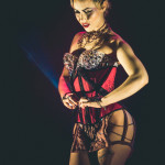 Lavender May performing at the 2015 Toronto Burlesque Festival teaser show, Crystal Menagerie