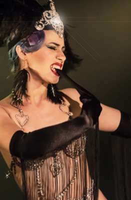 Lavender May performing at the 2014 Toronto Burlesque Festival
