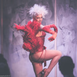 Lena Mae performing in Lovesongs and Showgirls at the Hospital Club in London.