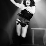 Lorelei performing at the Bad Girls of History burlesque show in Toronto.