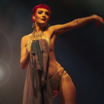 Loretta Jean performing at the Toronto burlesque show Girlesque 2015, the Saturday early show.