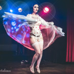 Loretta Jean performing at Peepshow TO's Twin Peaks Burlesque: Fire Strip With Me, in Toronto