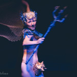 Lou Henry Hoover performing at the New York Burlesque Festival 2015 Sunday night Golden Pasties awards show at Highline Ballroom.