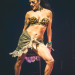 Love Letters performing at the 2015 Toronto Burlesque Festival teaser show, Crystal Menagerie