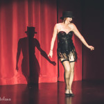 Lovey Goldmine performing at the 2015 Burlesque Hall of Fame Titans of Tease Reunion Showcase.