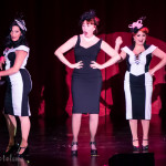 Lovey Goldmine onstage at the 2016 Burlesque Hall of Fame Friday Night Legends Reunion Showcase.
