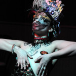 Lucille Ti Amore performing at the Hollaback Girls Benefit Burlesque Show