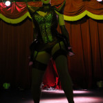 Lulu Liquer performing at the New York Burlesque Festival 2015 Friday night premiere party at Brooklyn Bowl.