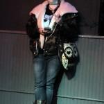 Madame Rosebud performing at the Hollaback Girls Benefit Burlesque Show