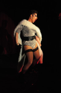 Madonnathon performing at New Orleans burlesque show Dirty Dime Peep Show January 17, 2015 at the Allways Lounge.
