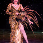 Marinka onstage at the 2016 Burlesque Hall of Fame Friday Night Legends Reunion Showcase.
