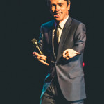 Mat Fraser onstage for the 2015 Burlesque Hall of Fame Weekend Legends of Burlesque Walk of Fame.