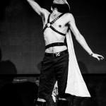 Matt Knife performing at the New York Burlesque Festival 2015 Sunday night Golden Pasties awards show at Highline Ballroom.