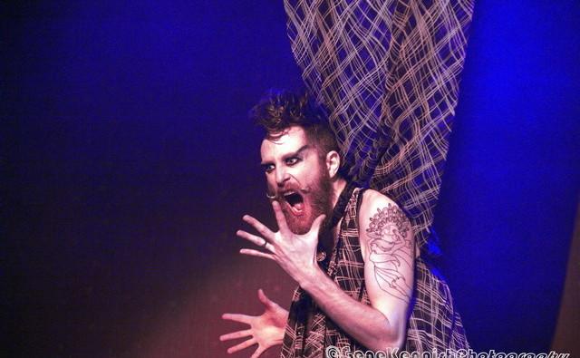 Matt Knife performing at Hotsy Totsy Burlesque show Wizard of Oz Burlesque at the Slipper Room, NYC.