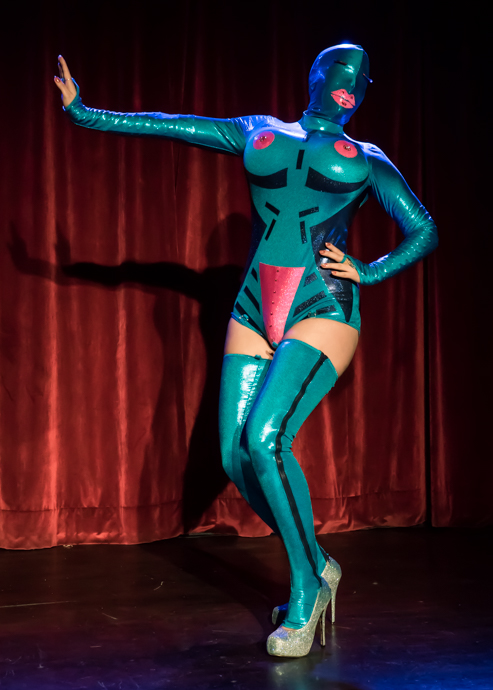 Melody Jane performing at the 2015 New York Burlesque Festival Thursday night Teaser Party.