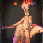 Michelle L'amour performing at the 2014 New York Burlesque Festival