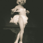 Miss Cairo performing at the New York Burlesque Festival 2015 Sunday night Golden Pasties awards show at Highline Ballroom.